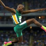 Luvo Manyonga, South African athlete, who came from a poverty stricken background and battled drug addiction.